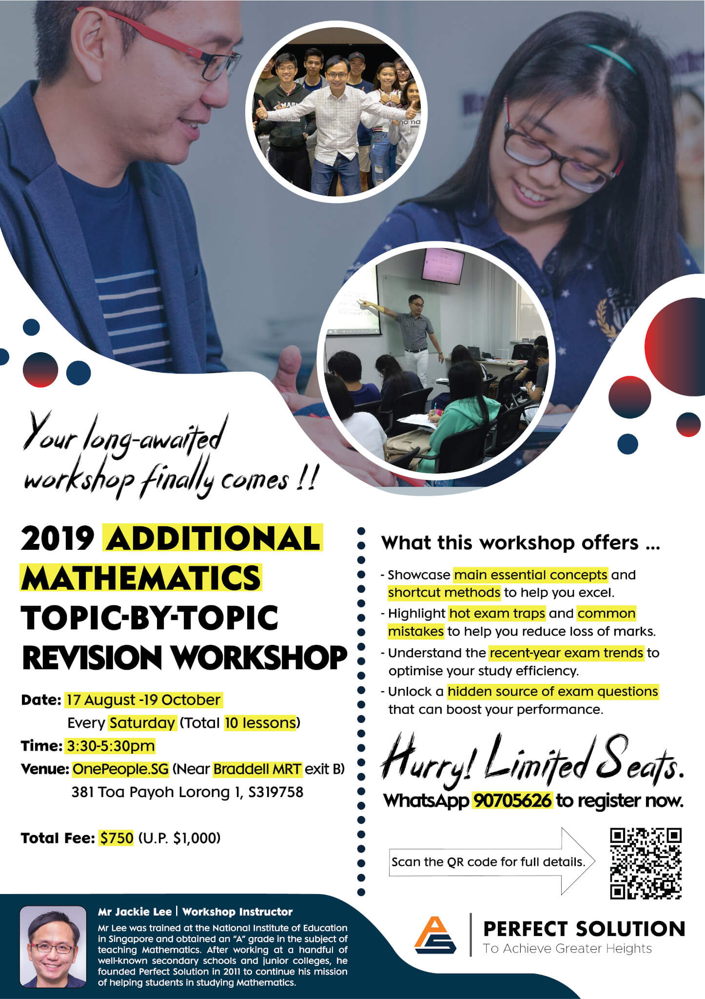 2019 Additional Mathematics Topic-By-Topic Revision Workshop