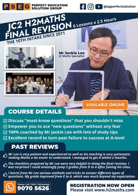 2021 JC2 H2Maths Final Revision